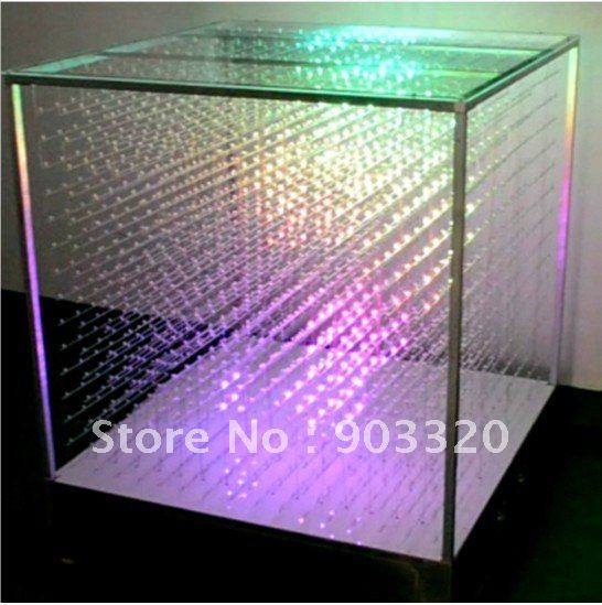 Commercial Lighting Self-Conscious Smd 5mm 3 In 1 16*16*16=4096 Voxel Laying 3d Led Cube Light Led Display For Disco Party Exhibition Bar Club Bringing More Convenience To The People In Their Daily Life Back To Search Resultslights & Lighting