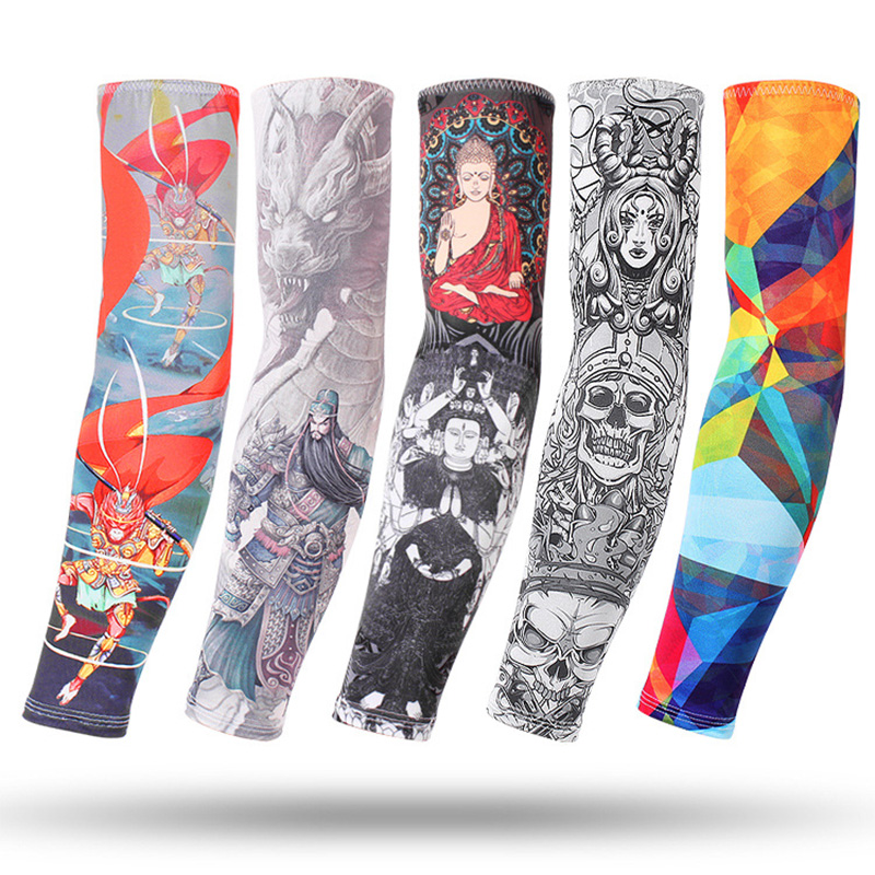 One Pair Arm Sleeves Running Hunting Quick Dry Fishing Basketball Elbow Pad Fitness Armguards Sports Cycling ArmWarmers Outdoors
