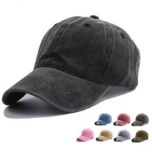 Washed Cotton Blank Baseball Hat Cap For Women Adjustable So