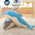 Super Suave tejido elástico Tiburón delfines juguete Muñecos de peluche Para Dormir cama para muñecas Regalos de Cumpleaños de La Muchacha