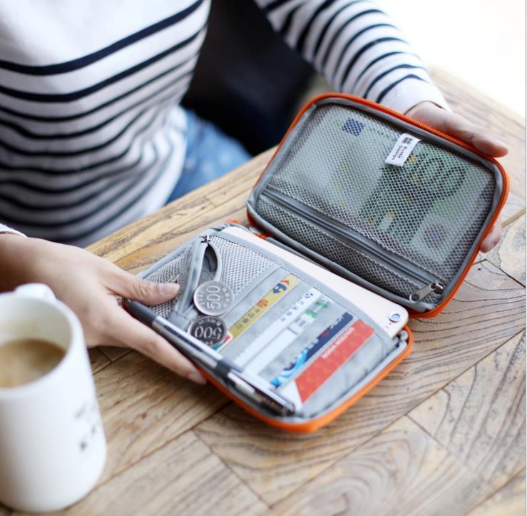 Загранпаспорта Сумки нейлоновая сумка кошелек бумажник для мужчин и женщин дорожные аксе ...