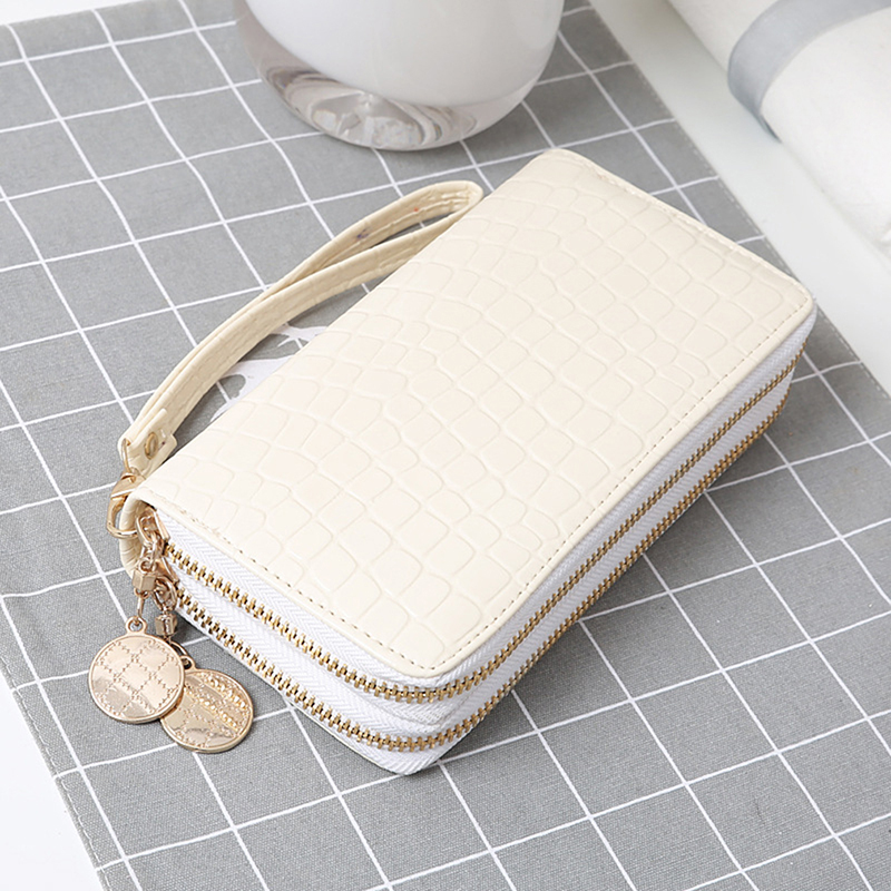 Wallet Fashion Phone-Bag Long-Design Double-Zipper White/black High-Quality Women Handbag