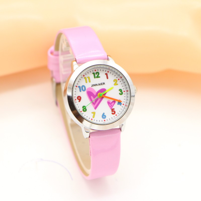 New Arrival Wholesale Fashion Heart Creative Watches Children Student Kids Girl Watch Casual Quartz Wristwatch Relojes Kol Saati