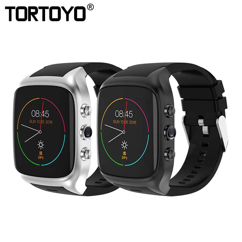 TORTOYO X02S Smart Watch Phone Android 5.1 OS Bluetooth WIFI GPS Camera 512MB+8GB Sports Heart Rate Business Smartwatch PK X01S