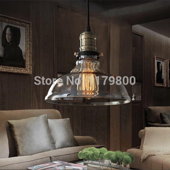 Free Shipping Vintage Industrial Style Edison Glass Light Lamp For Bedroom Living Room E27 Home Restaurant