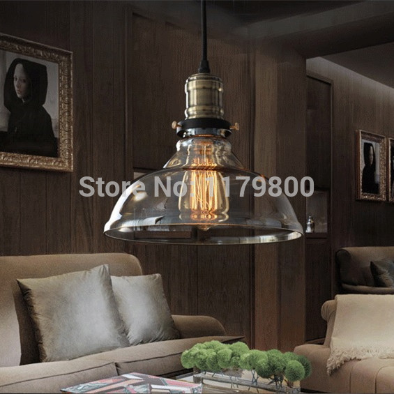 Free Shipping Vintage Industrial Style Edison Glass Light Lamp For Bedroom Living Room E27 Home Restaurant