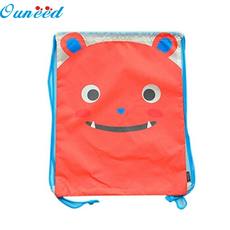 Ouneed Happy Home Cute Waterproof Cat String Bag Drawstring Backpack Travel Bag Polyester 1 Piece ароматизатор happy bag