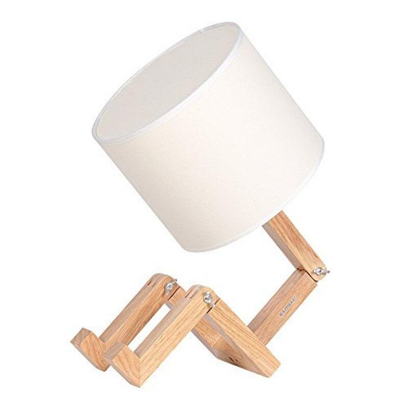 HZFCEW lampe de Table en bois réglable lampe de Table de chevet créative pour chambre bureau enfants FR229