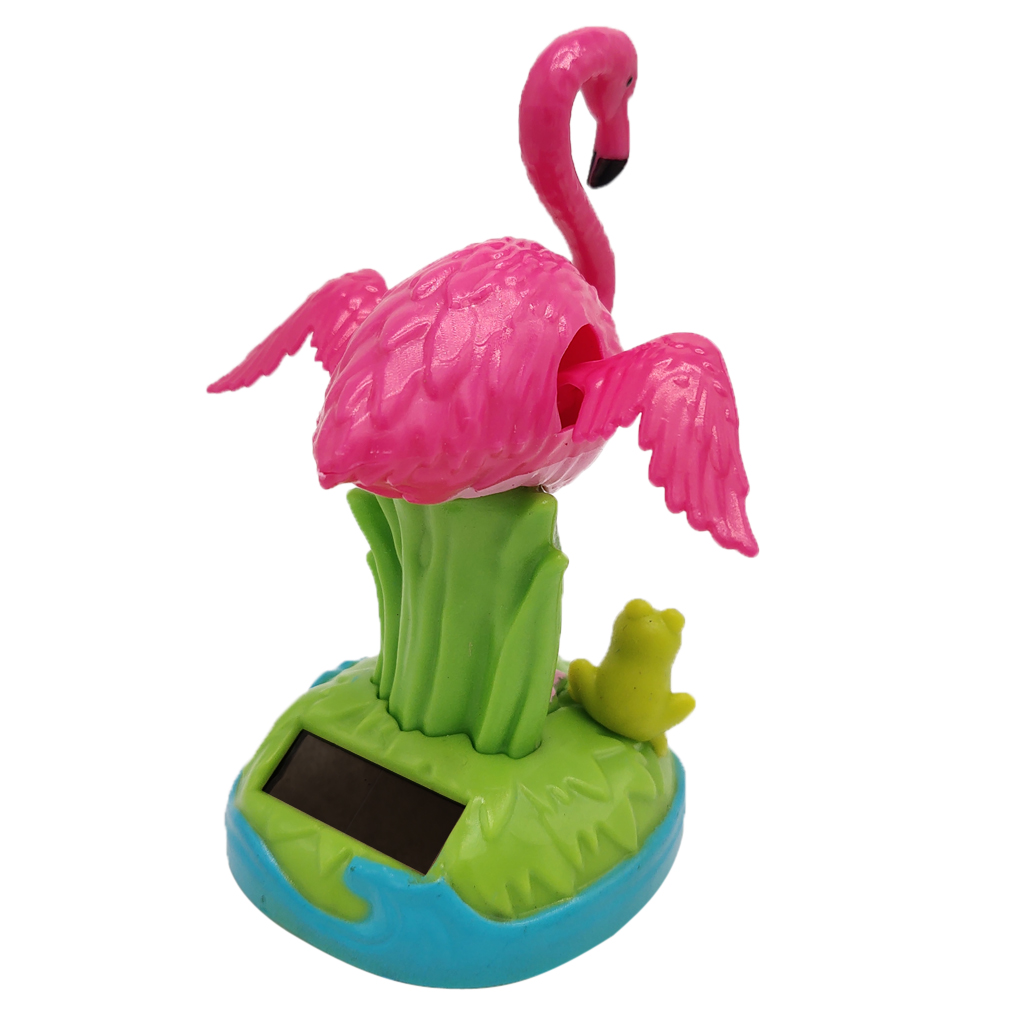 DASHBOARD TOY NOVELTY SOLAR POWERED DANCING FLAMINGO HOME OR CAR