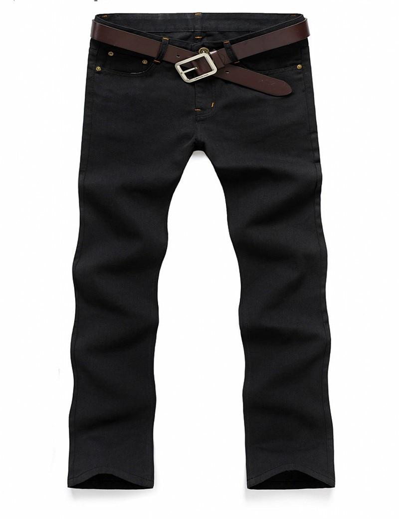 39213e24d57 Демисезонный Для Мужчин s Джинсы для женщин тонкий карандаш Брюки для  девочек моды середины талии черный полной длины джинсовые штаны 2018 мужской  ...