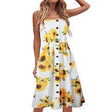 2019 Summer new ladies dress print casual dress Vestido de verano nuevas damas Zomer nieuwe damesjurk#YL-5