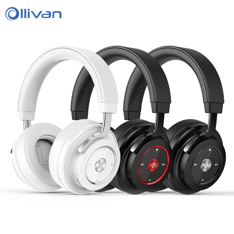 OLLIVAN HIFI Music Headphones Noise Cancelling Gaming Headpset Wireless Bluetooth 4.1 Sport Earphones with HD Mic for Game Music remax wireless music bluetooth headphones headset with hd mic noise cancelling hifi sound 3d stereo bass for music phone