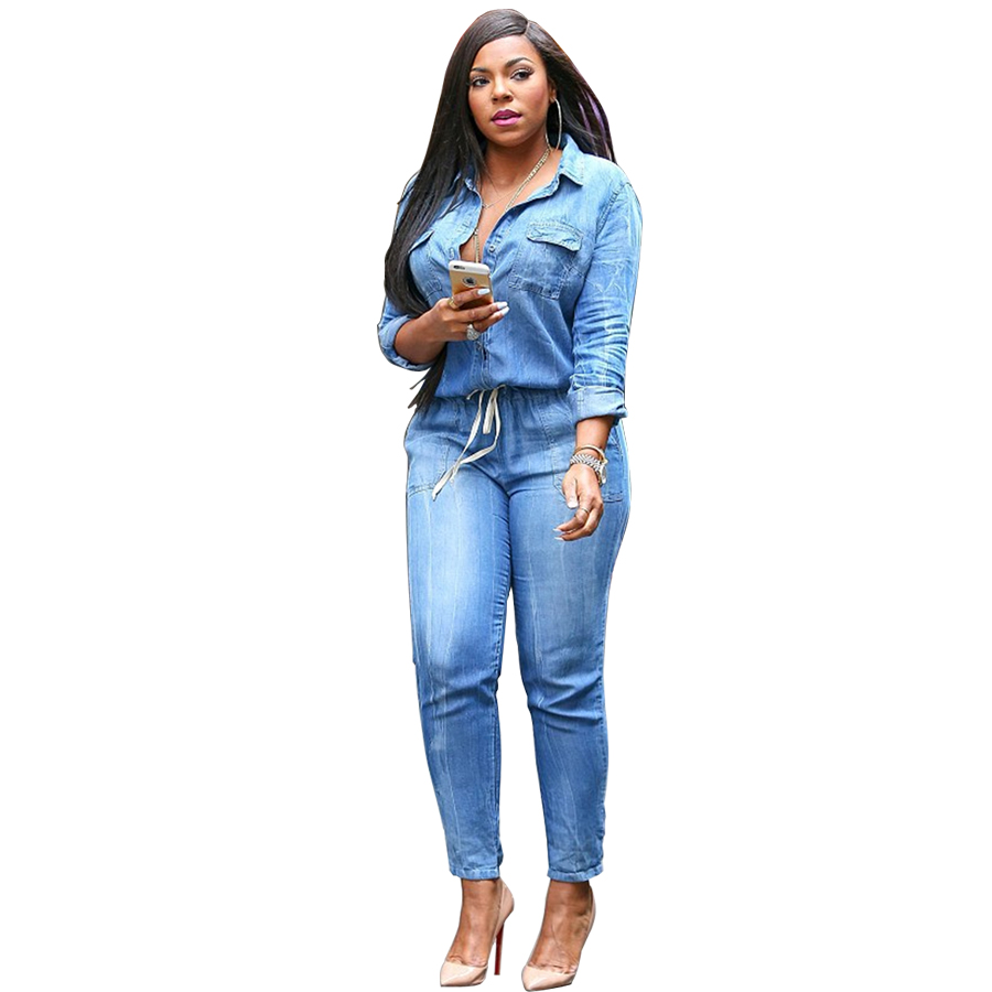 Plus Size Denim Jumpsuits And Rompers