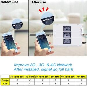 Image 4 - Усилитель сигнала сотовой связи ALC, трехдиапазонный GSM Репитер сигнала 70 дБ с усилением 3G LTE 900 1800 2100 сотовый телефон 4G усилитель Repetidor SetS44