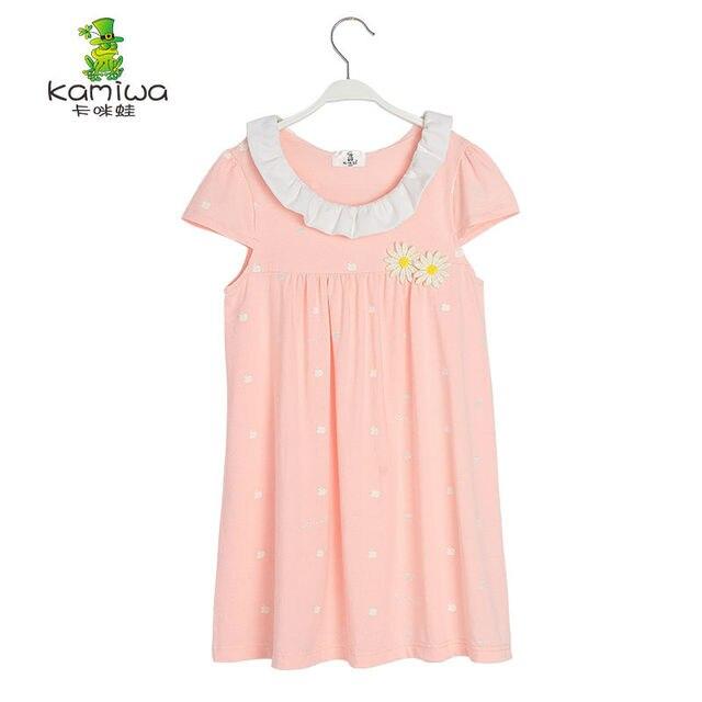 2a0c84f38 girl pajamas Summer 100% Cotton Baby Girls Dresses Sleep Dress ...