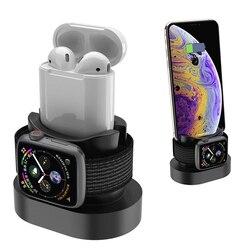 2 в 1 зарядная док-станция для Iphone X, Iphone XS, Iphone 8, Зарядная база для Apple Watch, 4, 3, 2 тумбочка, Подставка для зарядки, держатель