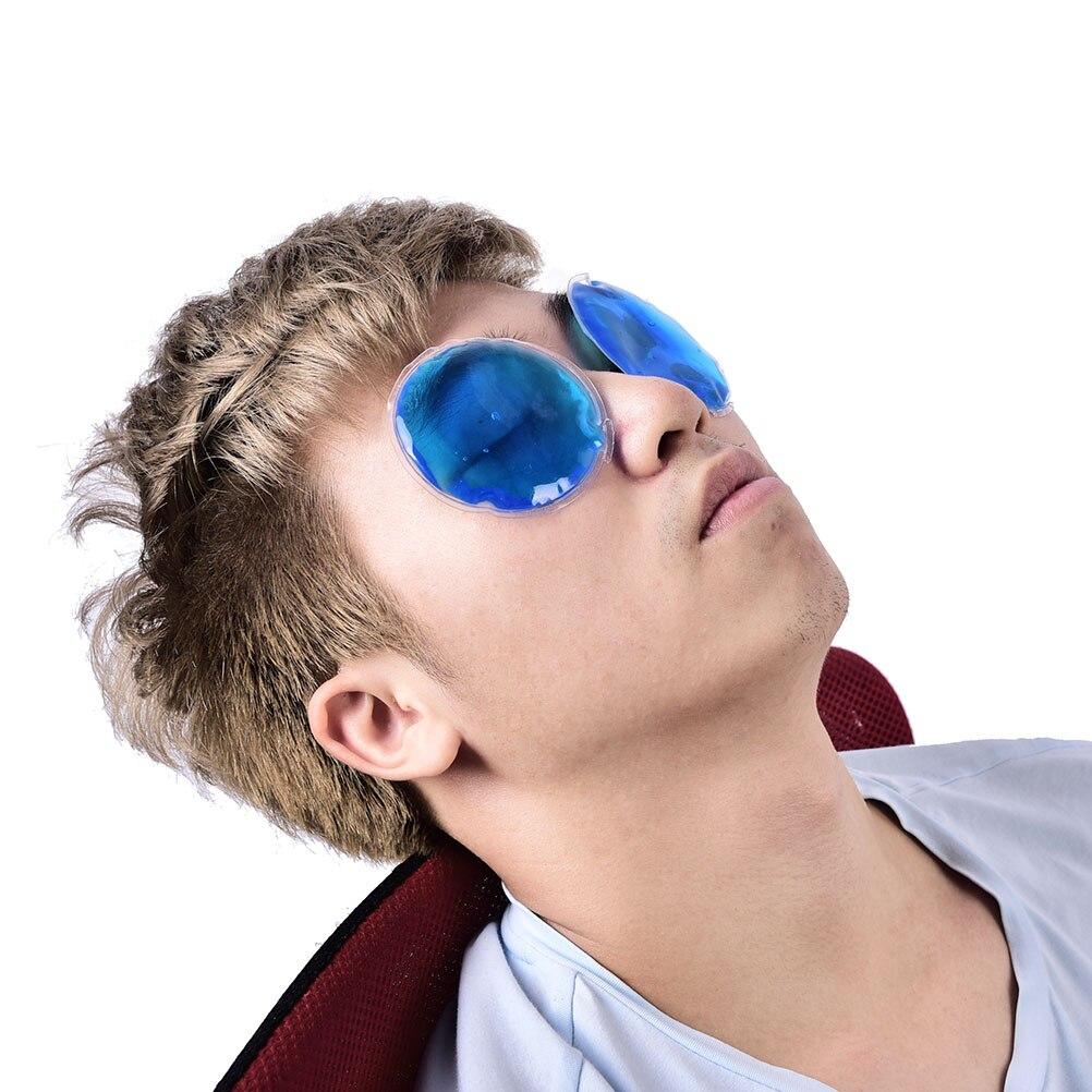 1 Pz Dia 7 cm Figura Rotonda Riutilizzabile Ice Cold Gel Impacco Caldo Terapia Microwaveable Dolore di Calore Naso/Clip orecchio