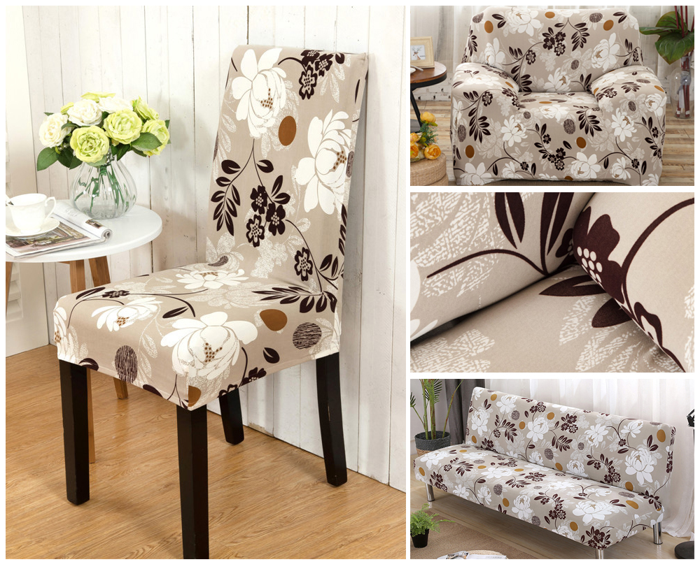 1246PCS Geometry Spandex Chair Cover Dining Washable slipcover for seat Elastic Kitchen Chair Covers Stretch Furniture Covers (1)