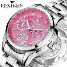 여성을위한 자동 기계 여성 시계 2020 시계 fngeen 숙녀 wacth 날짜 캐주얼 비즈니스 시계 여성 드레스 시계