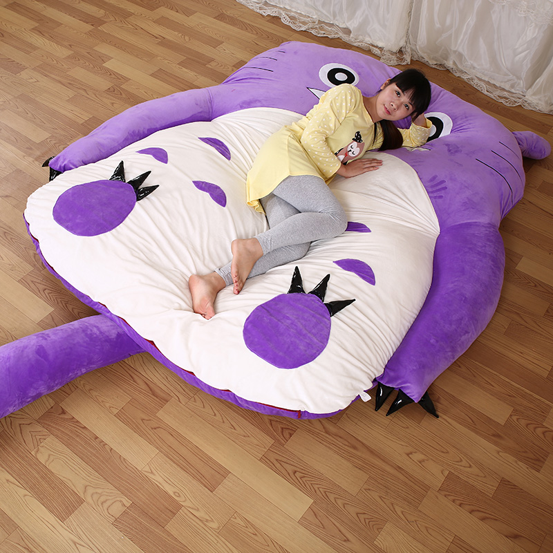 1.7x2.0m Totoro Bed Design Big Sofa Totoro Bed Mattress Child's Adult Sleeping Bag Mattress Warm Cartoon Tatami Beanbag Living chaucer s language