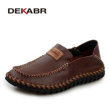 DEKABR/мужские лоферы из натуральной кожи ручной работы; фирменный дизайн 2020 года; Мягкие Мокасины; Летняя обувь; Мужская дышащая обувь на плоской подошве; мужская повседневная обувь