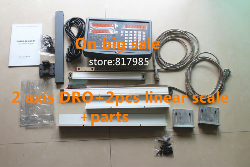 Best Price 2 Axis digital readout DRO with precision linear scale 5um 100 1020mm linear encoder