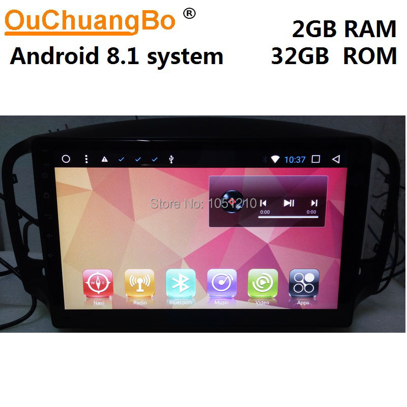 Lecteur audio radio Ouchuangbo android 8.1 gps pour roewe MG 350 support Bluetooth 9 pouces 2GB RAM 32GB ROM
