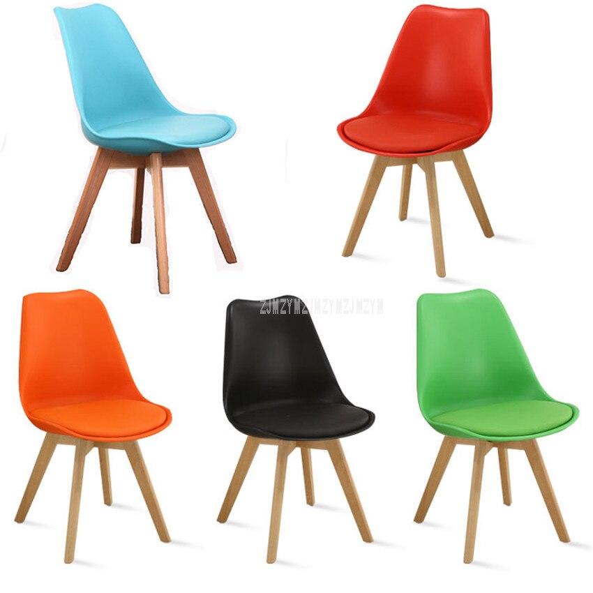Design moderne dinant la chaise avec les jambes en bois solides de hêtre loisirs café chaise de loisirs pour la salle de réception/salon à la maison/hôtel