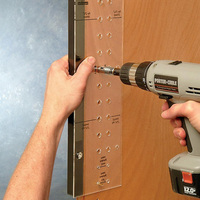 Hinge Mounting Tool Self Centering Shelf Pin with Drilling Jig Bit for Door Cabinet Furniture New