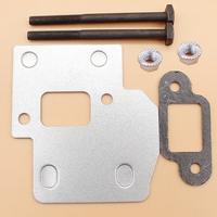 Silenciador de placa de escape  escudo de placa  junta  stihl ms250 ms230 ms210 021 023 025  peças de serra elétrica #1123 141 3200