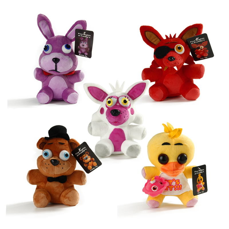 17cm Five Nights at Freddy's FNAF4 Freddy Bonnie Chica Foxy Figure Stuffed Plush Doll Toy Freddy Toys