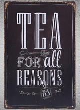 1 pc Black tea drink coffee shop green red Tin Plate Sign wall plaques man cave Decoration Dropshipping Poster metal