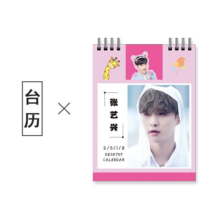 K-pop Exo Desktop Calendar Calendar In 2018 Around Chanyeol Bakhyuns Elecmit Album With Photos. Apparel Accessories