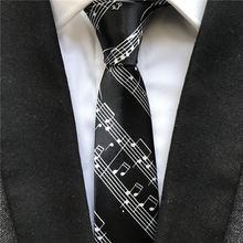 На высоком каблуке 5 см; Модные Узкие галстуки Музыка Персонал Gravata