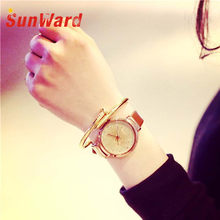 Top Quality Reloj New 1PC Sands Starry Simple Temperament Belt Table Diamond Quartz Watch high quality Jan31(China)