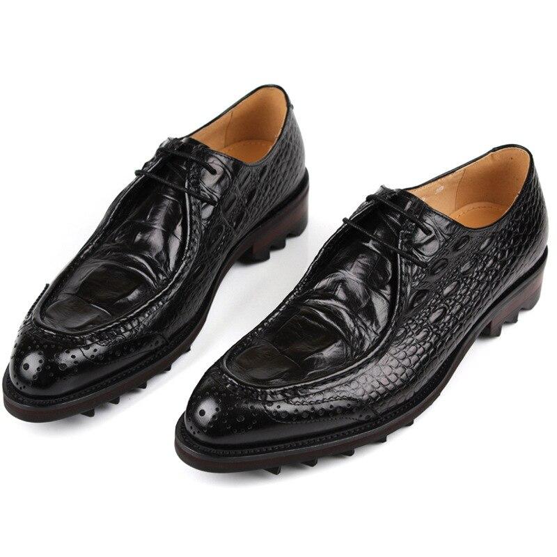 Sapatos Padrão Preto Crocodilo Negócios Produto Vestido Homens Luxo Cuir Botas Vinho Homme vermelho Dos Sapatas Chaussure Mycoron De Formais Confortáveis Wf7nTqwTF