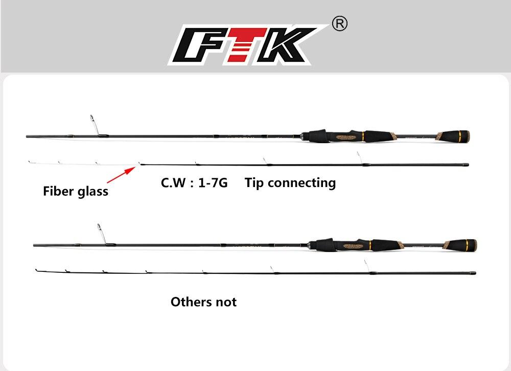 de pesca 2 seções 100% carbono C.W.1-7G,