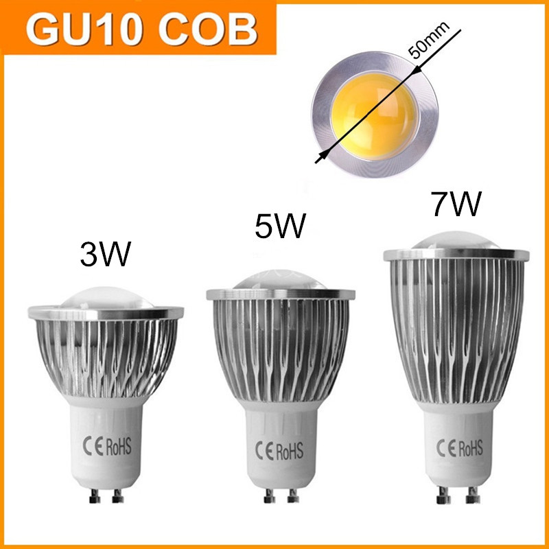 5X 220V 110V Best Quality LED Bulb COB GU10 3W 5W 7W GU 10 Lamp Dimmable Warm White Spot Light Energy Saving Bulbs CE RoHS printio юбка карандаш укороченная