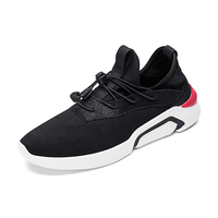 2017 Autumn New Style Running Shoes For Men Lightly Breathable Sport Shoes Lace Up Black Leisure