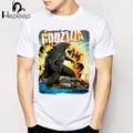 Godzilla Smashing City 2 print T-shirt novelty men short sleeve cute cartoon tee shirt boy tops wholesale anime man t shirt
