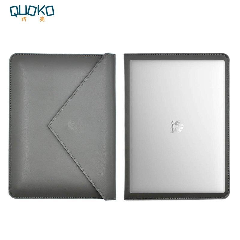 Laptop bag case Microfiber Leather Sleeve for Huawei MateBook X Pro 13.9 Dual Pocket Envelope style картаев павел huawei matebook x pro и galaxy s9