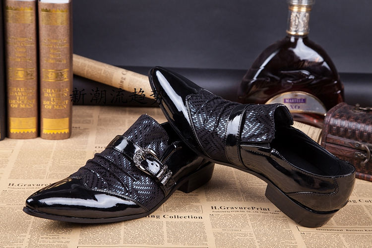 Italian style high quality real cowhide leather oxfords pointed slip on groom leather shoes formal wedding dress shoes menItalian style high quality real cowhide leather oxfords pointed slip on groom leather shoes formal wedding dress shoes men