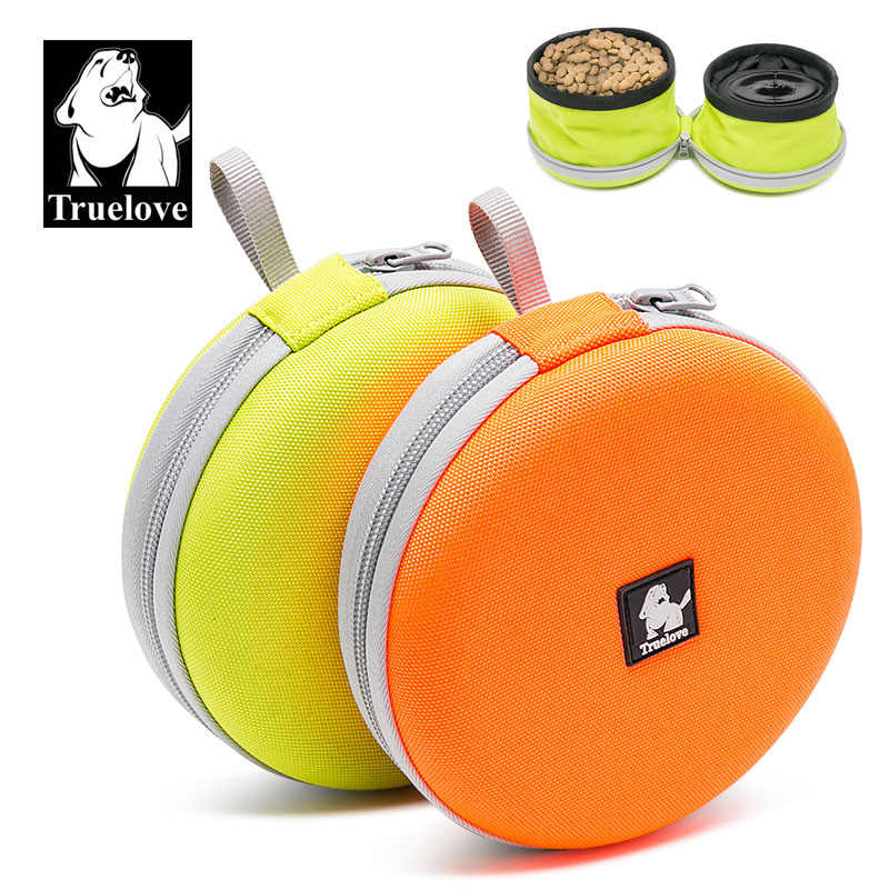 Truelove Foldable Pet Bowl Travel Collapsible 2 bowls for Water Food Feeding Waterproof Portable Dog Bowl Dog supplies Dropship