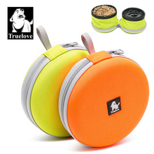 Truelove Foldable Pet Bowl Travel Collapsible 2 bowls for Water Food Feeding Waterproof Portable Dog supplies Dropship