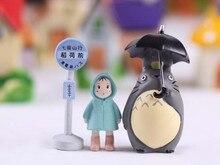 3pcs/set Totoro Garden Miniatures Terrarium Figurines Hayao Miyazaki Toys Resin Crafts Garden Accessories Action FigureS Toys