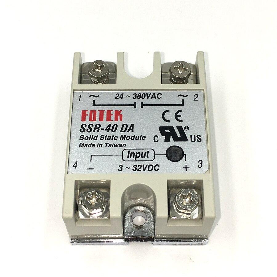 10 pcs Industrielle Solid State Relais SSR-40DA 40A/250 v 3-32VDC AC SSR 40DA relais à l'état solide