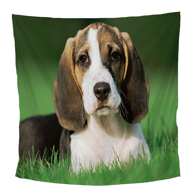 Dog Print Background Tapestry College Dorm Apartment Family Decorations Wall Hanging Tablecloths 130*150 150*210 170*230cm image
