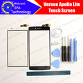 Vernee apollo lite tela de toque digitador garantia 100% original digitador da tela de toque do painel de vidro para apollo lite + presentes