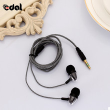 In-ear Earphone 3.5mm Stereo Bass Headphone Noise Isolating Reflective Fiber Cloth Line For MP3/mp4 Earbuds Headset original awei es900m super bass noise isolating in ear earphone for mp3 player mp4 earpods