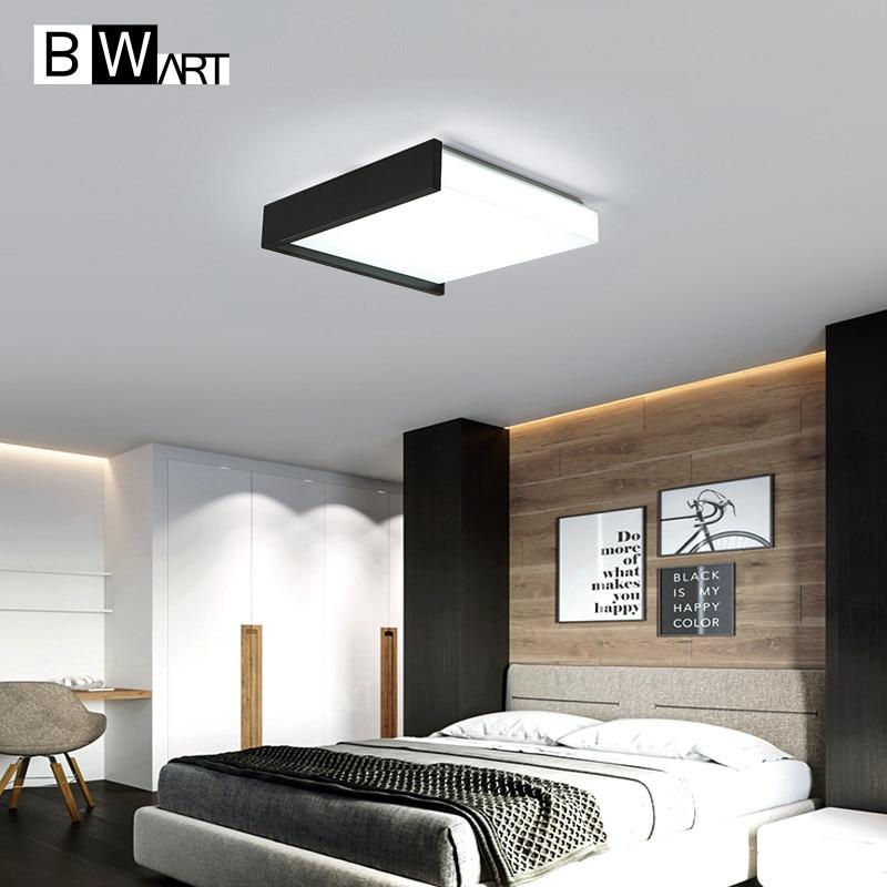 BWART Modern LED Ceiling Lights For Living Children Room Bedroom Creative design Black and White Remote